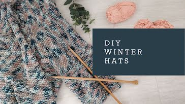 DIY Winter Hats - YouTube Thumbnail Template