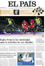 Photo: Rajoy frena la ley municipal ante la rebelión de sus alcaldes, Defensa blinda su red informática para evitar un 'caso Wikileaks', Irán irrumpe de lleno en el escenario de la guerra civil en Siria, la NASA se la juega en Marte y la balada inmortal de Chavela Vargas, entre los temas de nuestra portada del lunes 6 de agosto de 2012. http://ep00.epimg.net/descargables/2012/08/06/c33ffa973c2d6e18f8144ee62e10c54b.jpg