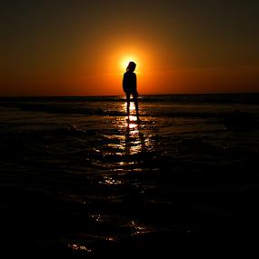 Stand by The Sun by Wahyu Jr. Abadi - Landscapes Sunsets & Sunrises ( backlight, silhouette, sunset, geghans, sunrise, surabaya,  )