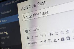 a photo of wordpress program