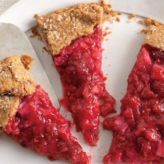 Rhubarb and Raspberry Crostata.