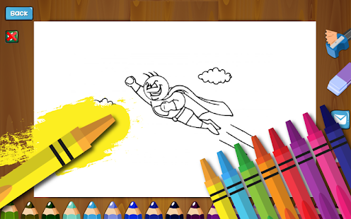 Tải Comics Heroes Coloring Book APK