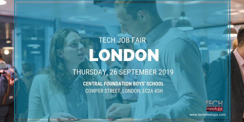 JOIN LONDON TECH JOB FAIR 2019