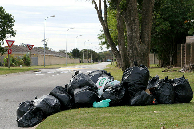Uncollected refuse littered the streets and pavements of Nelson Mandela Bay during the week-long strike