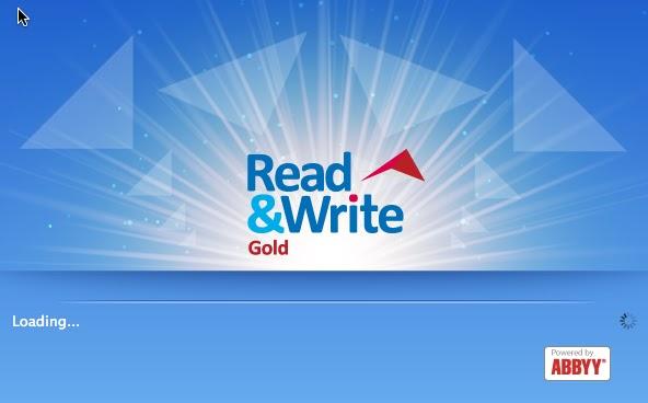 Read&Write splash screen