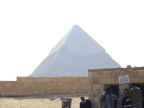 Photo: Waiting to go through security before heading off to the pyramids.
