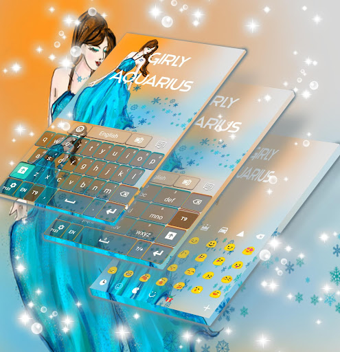 Girly Aquarius Keyboard Aplicaciones (apk) descarga gratuita para Android/PC/Windows screenshot