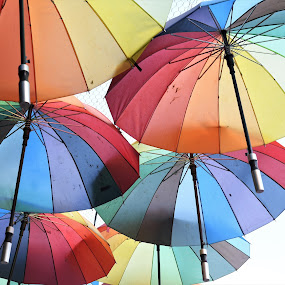 Illustration by J & M - Artistic Objects Other Objects ( image, view, umbrella, illustration, colorful )