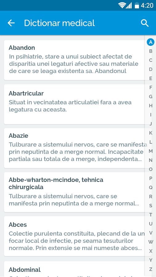 WebClinic app- screenshot