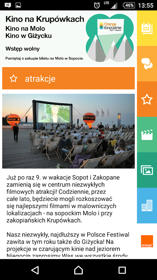 Orange Kino Letnie- screenshot