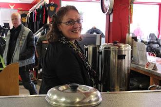 Photo: Maar liefst 70 liter koffie had Karin gezet en deze waren dan ook bijna op aan het eind van de middag!