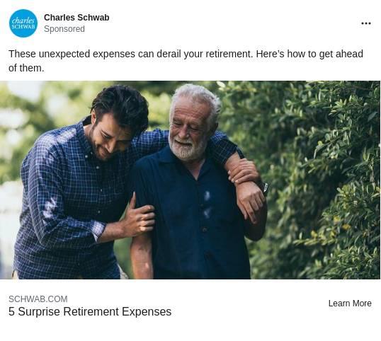 Charles Schwab Ad Example