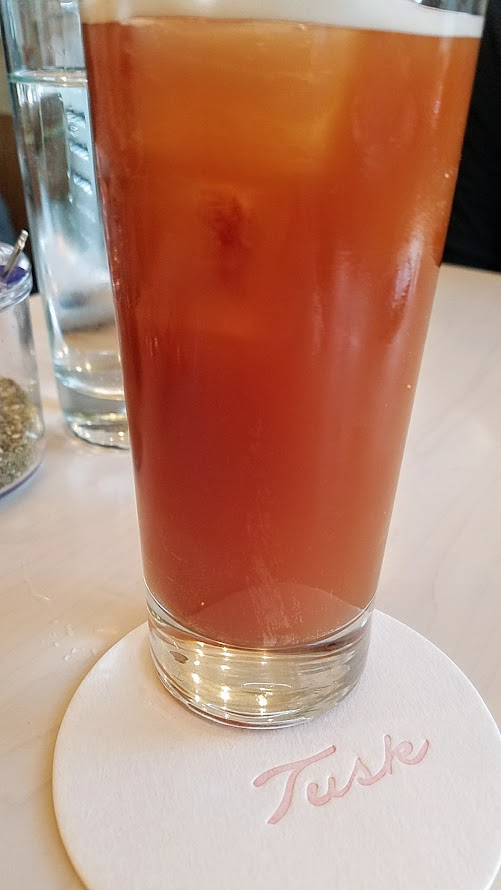 Brunch at Tusk in Portland, Non alcoholic beverage of Masala Chai Tree Nitro