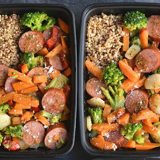 Meal Prep Sausage & Veggies for Any Meal {GF, Low Cal}.