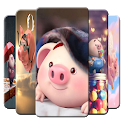 Cute Baby Pig Wallpaper3D Amoled icon