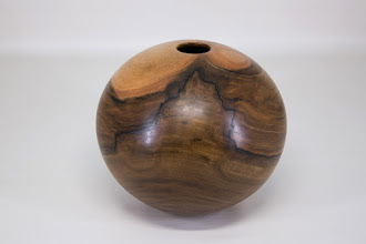 "Photo: Dale Bright 6 1/2"" round hollow form [English walnut]"