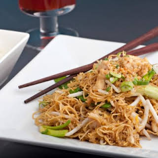 Sweet And Spicy Chicken Lo Mein.