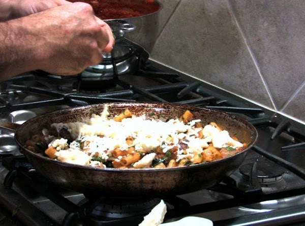 Once you have some great brown color on the  Ziti, add salt, pepper,...