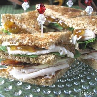 Fun, Fancy Little Turkey Club Sandwiches.