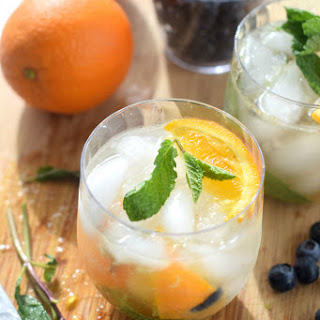 Skinny Orange Blueberry Mojito and $100 VISA Gift Card PLUS Chinet® Cut Crystal® Tableware Giveaway!