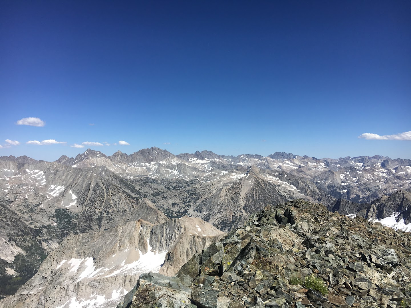 The Palisades and Dusy Basin from the summit of Black Giant