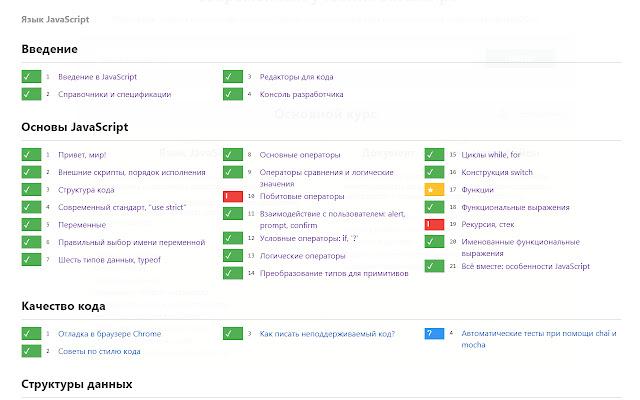 Метки для учебника javascript.ru