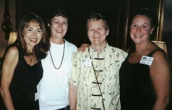 Photo: Barbara (Novosad) McClure, Carol (Craven) Barnes, Mary (Traud) Austin, Susan (Granrath) Quist