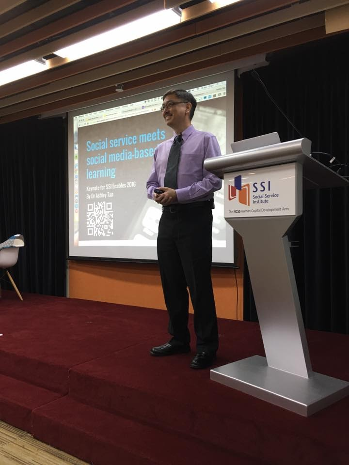 Delivering my keynote at SSI Enables 2016.