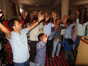 Photo: In one of the latter evening sessions Pastor Pradeep & I sensed a need for an invitation of response. God truly came and visited us as most all of the leaders responded to be living sacrifices for the Lord in doing His work. It is God moments like these that make the sacrifice of doing God's work worth it all. Blessed Be God Alone !!!