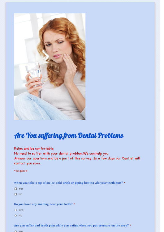 Are You suffering  from Dental Problems