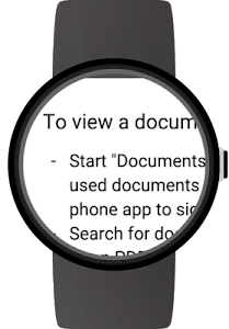 Documents for Android Wear screenshot 3
