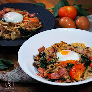 Japanese Style Spaghetti Inspired by Miam Miam.