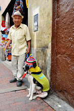 Photo: Cool dude and cooler dog in downtown Lima
