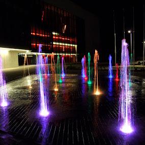 by Oleg Verjovkin - City,  Street & Park  Fountains ( fountain, rezekne, latvia )