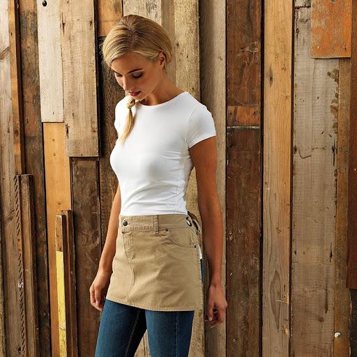 Chino cotton waist apron