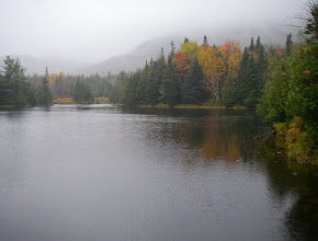 Photo: Cloudy morning at Marcy Dam.