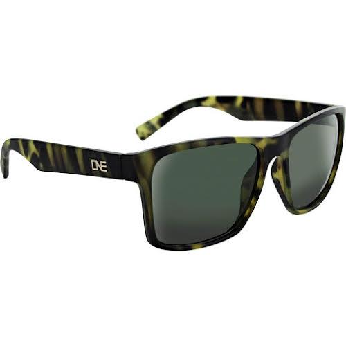 Optic Nerve ONE Bankroll Polarized Sunglasses: Matte Tortuga Green with Polarized Gray Lens