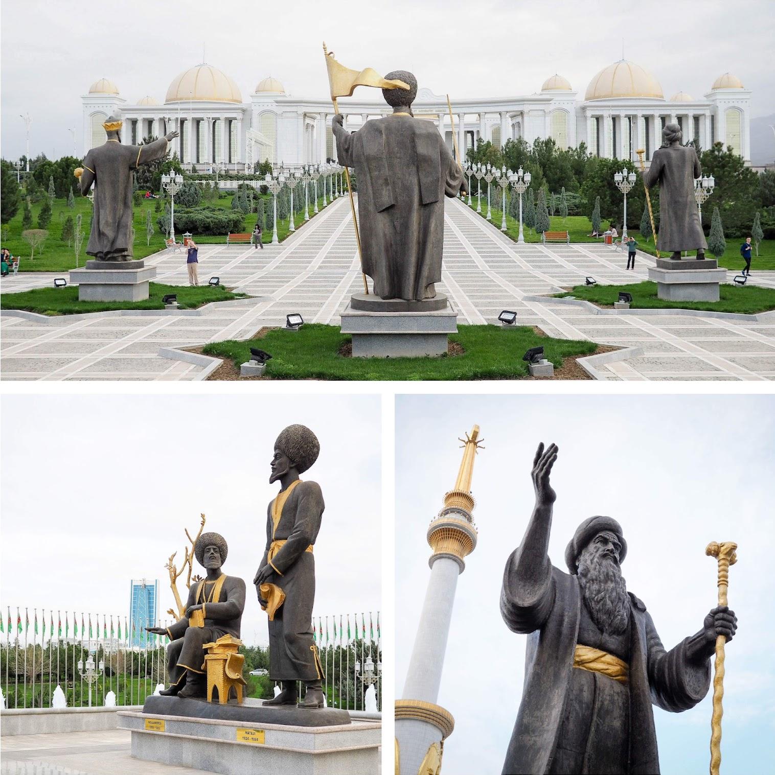 Monuments in Ashgabat Turkmenistan
