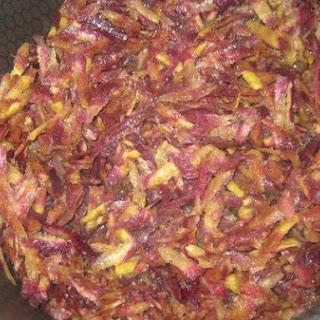 Rainbow Carrot With Tamarind Sauce- حشوة رز بالتمر الهندي و الجزر ألأحمر