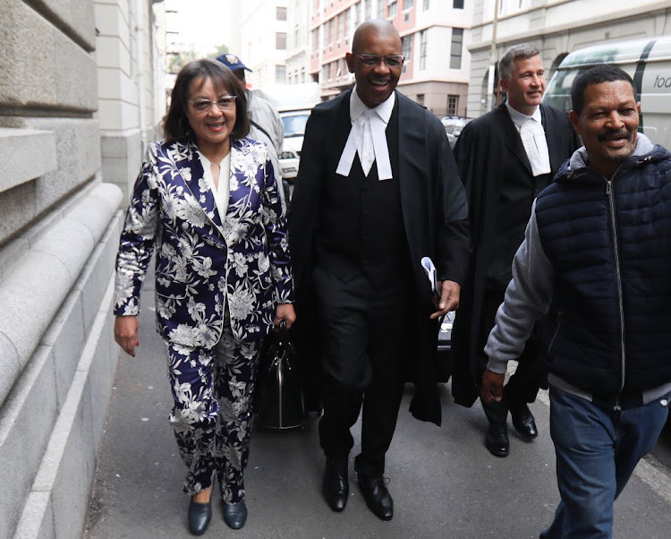 Former Cape Town mayor Patricia de Lille and Advocate Dali Mpofu
