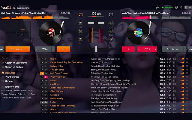 dj online mixer