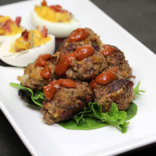Cheddar and Bacon BBQ Meatballs.
