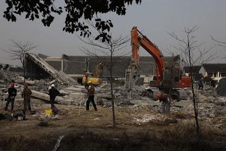 Photo: 丁乙上海工作室强拆现场
