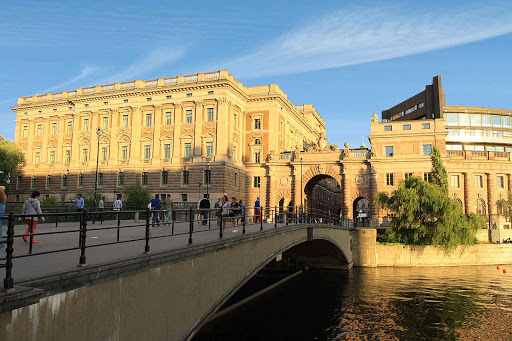 Sweden-Stockholm-Royal-Palace - The Royal Palace in Stockholm is right next to Gamla Stan (old town), near the Parliament House.