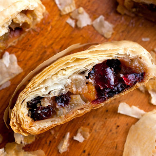 Apple Pear Strudel With Dried Fruit and Almonds