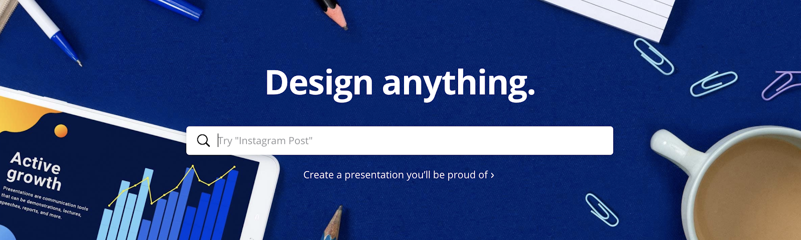 Canva for designing assets for blogs
