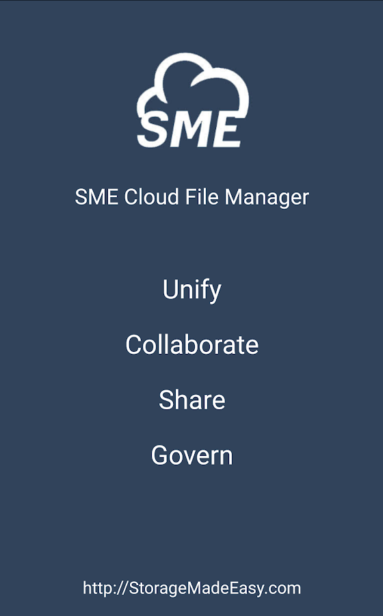SME Cloud File Manager- screenshot