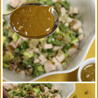 Curry, Coconut, Ginger, Peanut Dressing