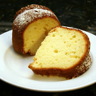 Luscious Lemon Sour Cream Cake.