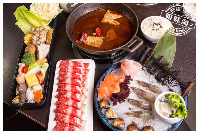 天水玥秘境鍋物店-麻辣鍋-豪華海陸雙拼/牛肉